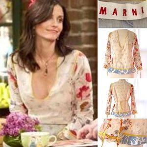 "MARNI ""Monica"" Semi Sheer Floral Blouse"